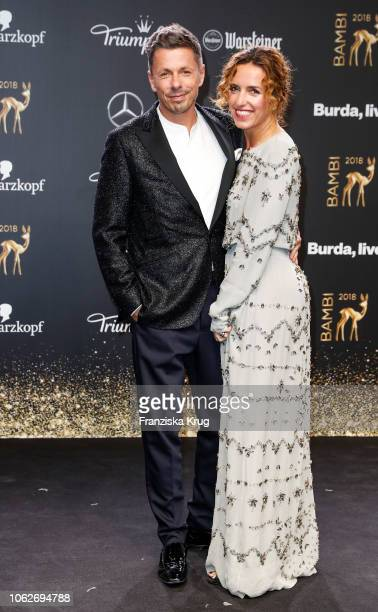 Michi Beck and his wife Ulrike Fleischer arrive for the 70th Bambi Awards at Stage Theater on November 16 2018 in Berlin Germany