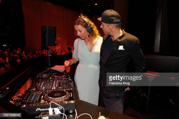 Michi Beck and his wife Ulrike Fleischer attend the 25th Opera Gala aftershow party at Deutsche Oper Berlin on November 3 2018 in Berlin Germany