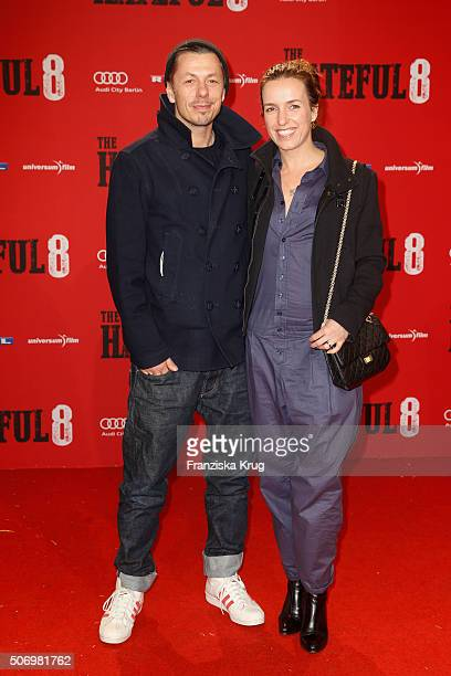 Michi Beck and his wife Ulrike Fleischer attend the premiere of 'The Hateful Eight' at Zoo Palast on January 26 2016 in Berlin Germany
