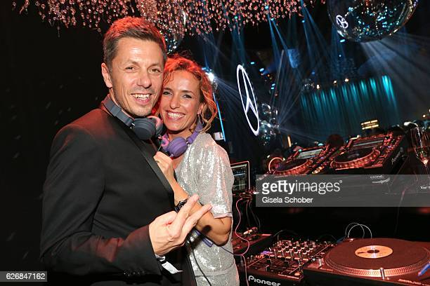 Michi Beck Fantastische Vier and his wife Ulrike Fleischer during the Bambi Awards 2016 party at Atrium Tower on November 17 2016 in Berlin Germany