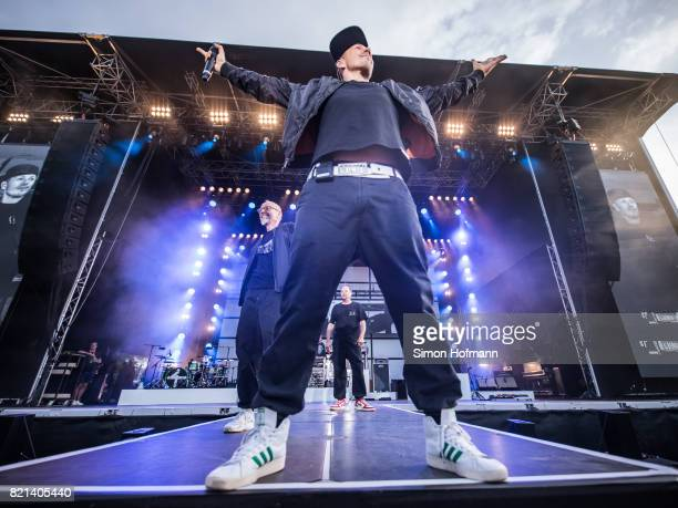 Michi Beck of Die Fantastischen Vier performs during Waidsee Festival on July 23, 2017 in Weinheim, Germany.