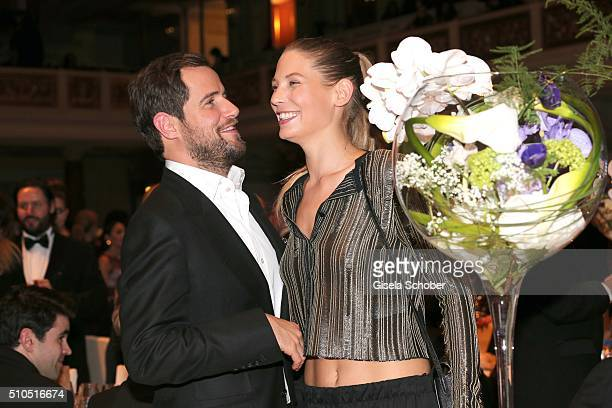 Michi Beier and his girlfriend Sarah Brandner during the Cinema For Peace Gala 2016 during the 66th Berlinale International Film Festival on February...