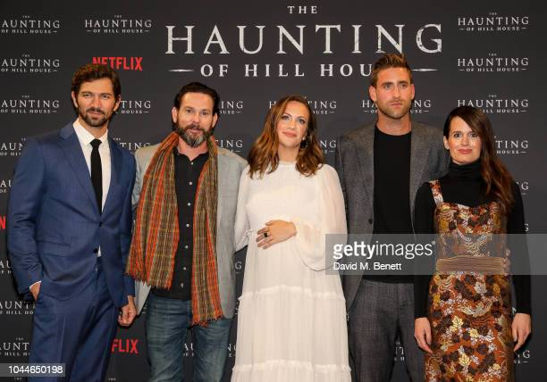 Michiel Huisman Henry Thomas Kate Siegel Oliver JacksonCohen and Elizabeth Reaser attend a special screening of Netflix's The Haunting of Hill House...