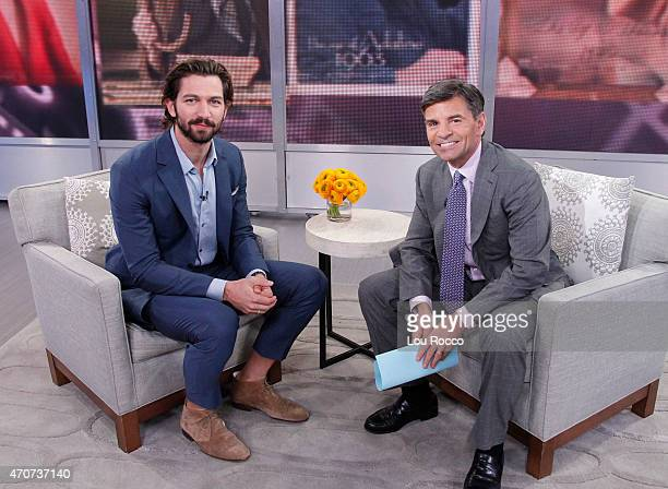 AMERICA Michiel Huisman is a guest on Good Morning America 4/22/15 airing on the Walt Disney Television via Getty Images Television Network