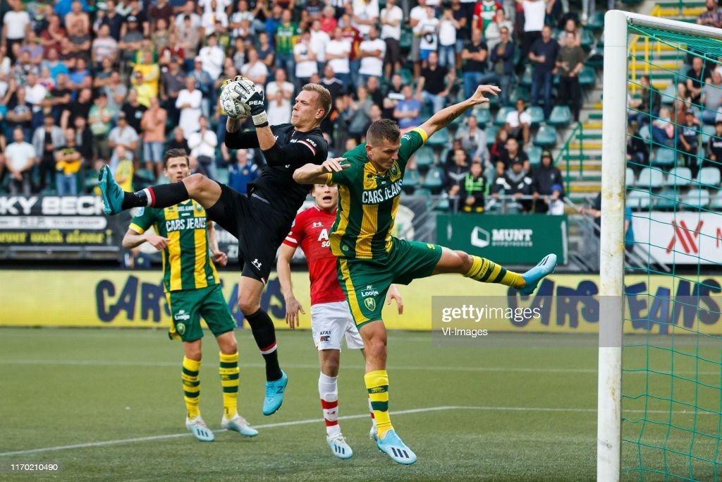 Michiel Kramer Of Ado Den Haag Az Goalkeeper Marco Bizot Jonas News Photo Getty Images