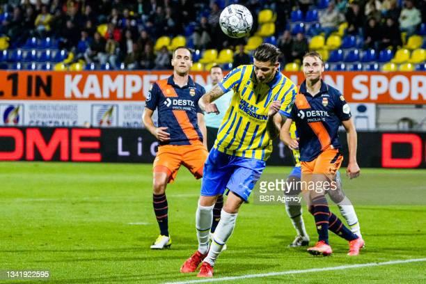 Michiel Kramer of RKC Waalwijk during the Dutch Eredivisie match between RKC Waalwijk and Willem II at Mandemakers Stadion on September 21, 2021 in...