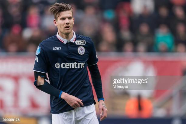 Michiel Kramer of Sparta Rotterdam during the Dutch Eredivisie match between FC Twente Enschede and Sparta Rotterdam at the Grolsch Veste on February...