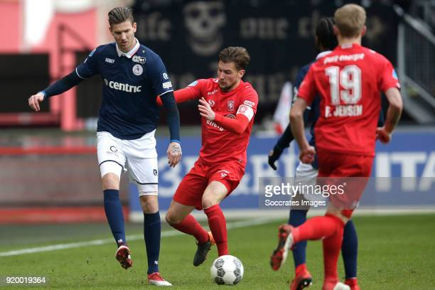 Michiel Kramer of Sparta Rotterdam Hidde Ter Avest of FC Twente during the Dutch Eredivisie match between Fc Twente v Sparta at the De Grolsch Veste...