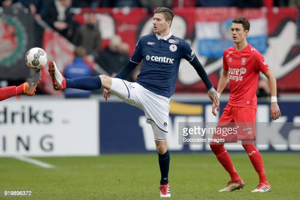Michiel Kramer of Sparta Rotterdam Peet Bijen of FC Twente during the Dutch Eredivisie match between Fc Twente v Sparta at the De Grolsch Veste on...