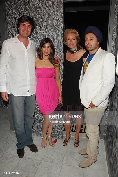 Michiel Van Der Wal Priya Chatwal Frederique Van Der Wal and Vikram Chatwal attend GONZO post screening party at Night Hotel NYC on June 25 2008 in...
