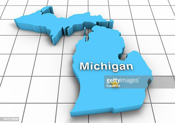 Michigan 3D State Map
