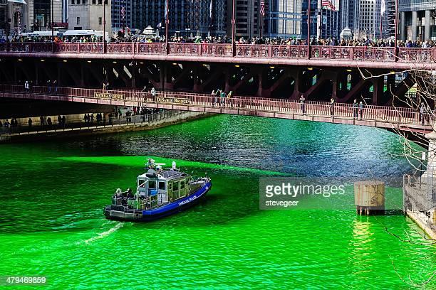 Michigan Bridge, Saint Patrcks journée, Chicago