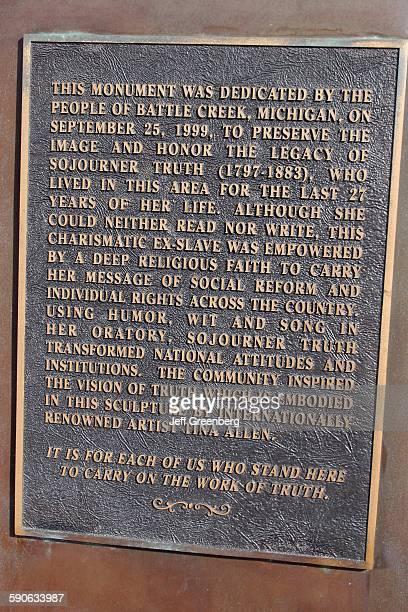Michigan Battle Creek Sojourner Truth Memorial Plaque