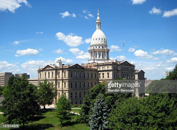 michigan capitol building - lansing stock pictures, royalty-free photos & images