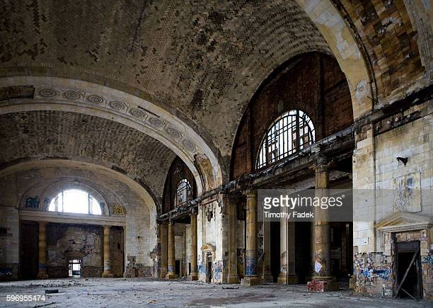 Michigan Central Train Station The decadeslong decline of the US automobile industry is acutely reflected in the urban decay of Detroit the city once...