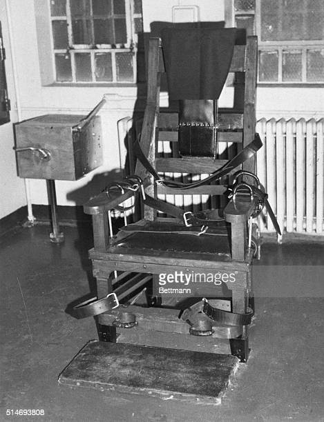 1981 Michigan City IN The electric chair at the Michigan City Prison where Steven Judy will be electrocuted