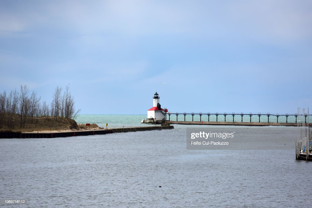 Michigan City Lighthouse, Indiana, USA : Stock Photo