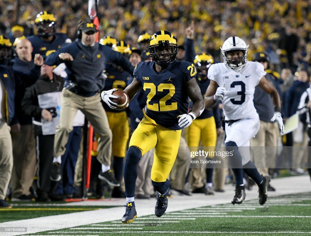 COLLEGE FOOTBALL: NOV 03: Penn State at Michigan : News Photo