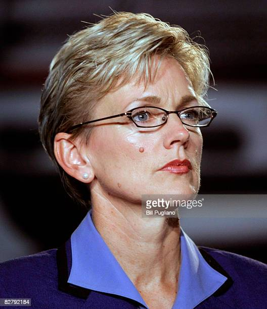 Michigan Democratic Governor Jennifer Granholm attends an event to help celebrate the manufacturing launch of the allnew 2009 Dodge Ram truck at the...