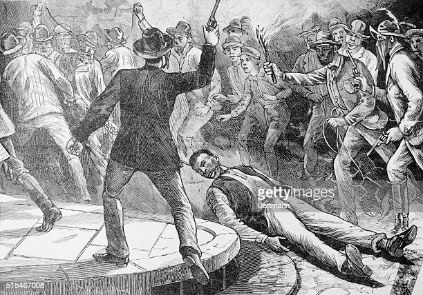 Dragging A Black Rape Fiend Albert Martin Hauled Out Of Jail At Port Huron Michigan And Through Town By The Neck Until Dead