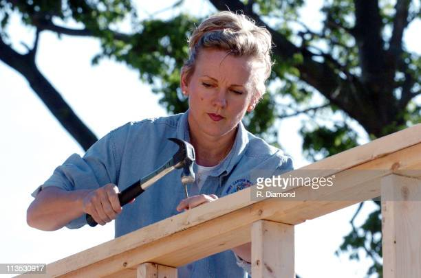 Michigan Govonor Jennifer Granholm during Habitat for Humanity 2005 Jimmy Carter Work Project Day 1 at Benton Harbor in Benton Harbor Michigan United...