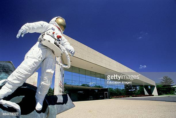 Michigan Grand Rapids Gerald R Ford Museum Sculpture Honoring Space Program