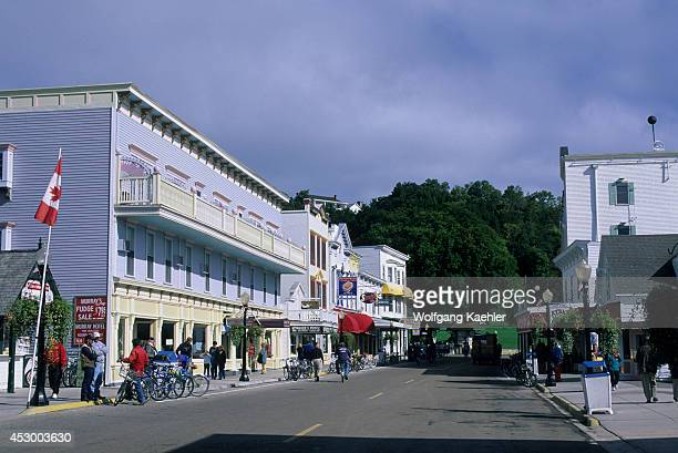 USA Michigan Lake Huron Mackinac Island Village Main Street Street Scene