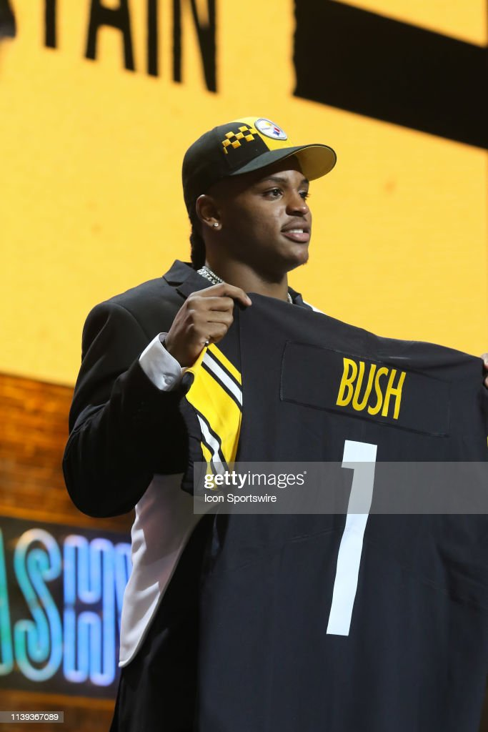 9edbe0e58 Michigan linebacker Devin Bush is selected by the Pittsburgh ...