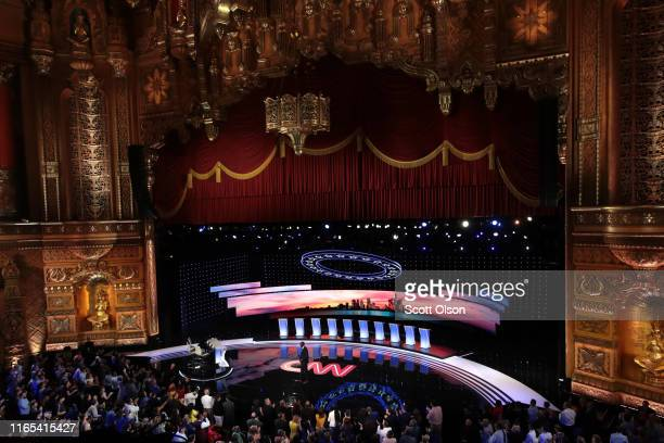 Michigan Lt Governor Garlin Gilchrist speaks to the audience attending the Democratic Presidential Debate at the Fox Theatre July 31 2019 in Detroit...