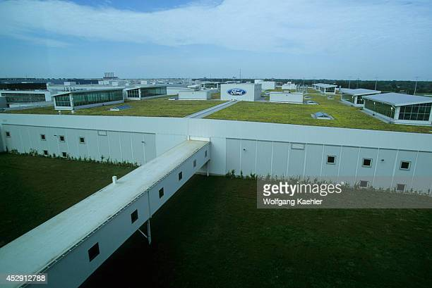 Michigan, Near Detroit, Dearborn, Ford Rouge Factory Tour, Observation Deck, View Of Largest Living Roof.