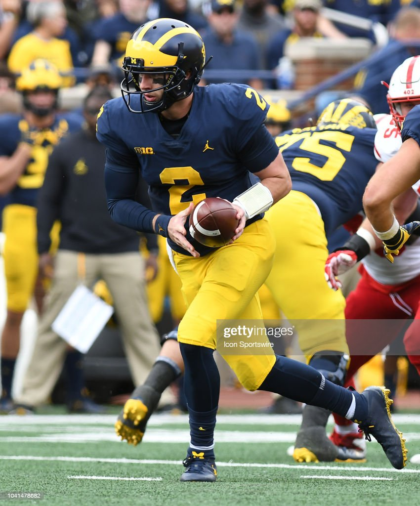 Michigan quarterback Shea Patterson in action during the ...
