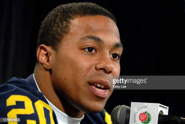 Michigan running back Mike Hart at Rose Bowl Media Day at the Home Depot Center in Carson Calif on Saturday December 30 2006