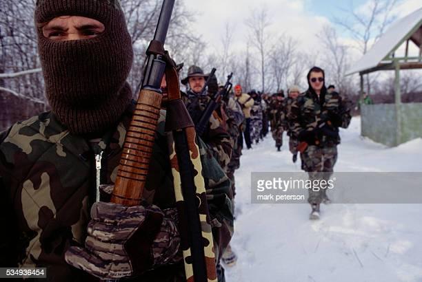 South Michigan Regional Militia Wolverines 14th Brigade 4th Division of Michigan Militia Training Exercise
