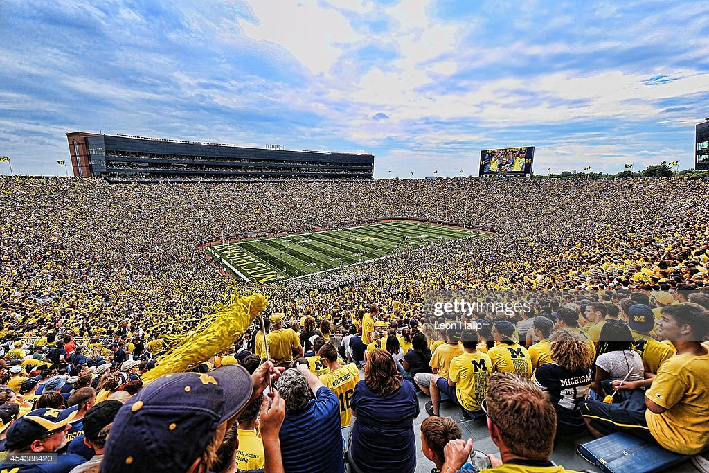 Michigan Stadium during the game between Appalachin State and the Michigan Wolverines on August 30, 2014 in Ann Arbor, Michigan. The Wolverines defeated the Mountaineers 52-14.