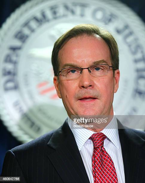 Michigan State Attorney General William Schuette speaks at the press conference Michigan had the most deaths during the outbreak The Department of...