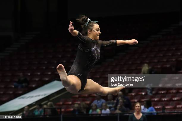 Michigan State gymnast Ashley Hofelich during the Elevate the Stage Meet on March 8 2019 at Legacy Arena in Birmingham Alabama