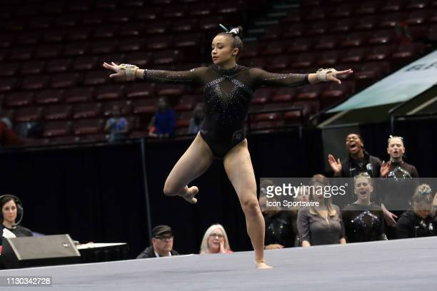 Michigan State gymnast Lea Mitchell during the Elevate the Stage Meet on March 8 2019 at Legacy Arena in Birmingham Alabama