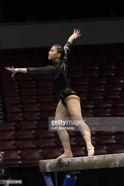 Michigan State gymnast Madison Michale during the Elevate the Stage Meet on March 8 2019 at Legacy Arena in Birmingham Alabama