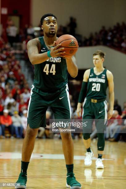 Michigan State Spartan forward Nick Ward during the game between the Michigan State Spartans and Indiana Hoosiers on February 3 at Assembly Hall in...
