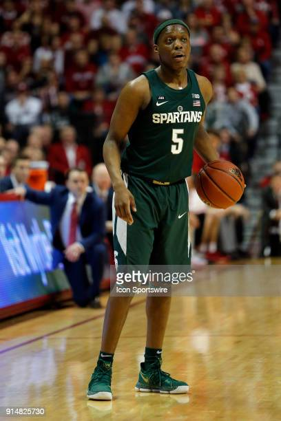 Michigan State Spartan guard Cassius Winston during the game between the Michigan State Spartans and Indiana Hoosiers on February 3 at Assembly Hall...