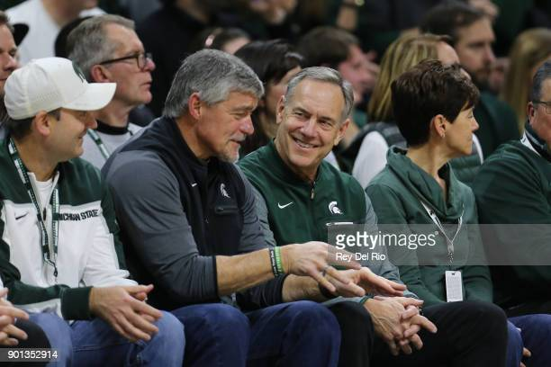 Michigan State Spartans football head coach Mark Dantonio watches the game between the Maryland Terrapins and the Michigan State Spartans at Breslin...