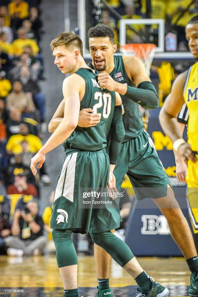 COLLEGE BASKETBALL: FEB 24 Michigan State at Michigan : News Photo