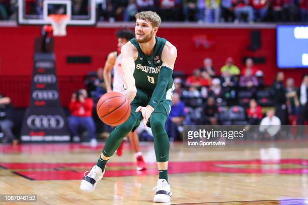 Michigan State Spartans forward Kyle Ahrens during the second half of the College Basketball game between the Rutgers Scarlet Knights and the...