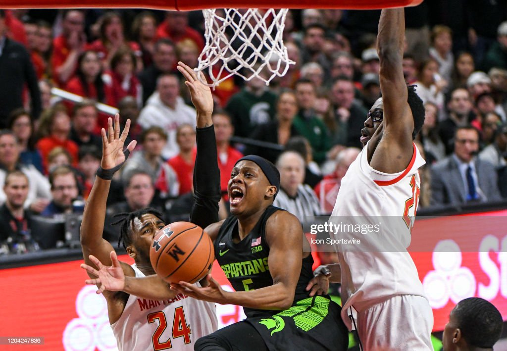 COLLEGE BASKETBALL: FEB 29 Michigan State at Maryland : News Photo