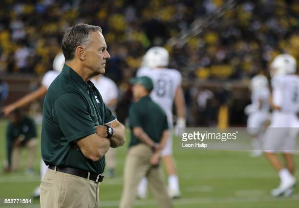Michigan State Spartans head football coach Mark Dantonio prior to the start of the game against the Michigan Wolverines at Michigan Stadium on...