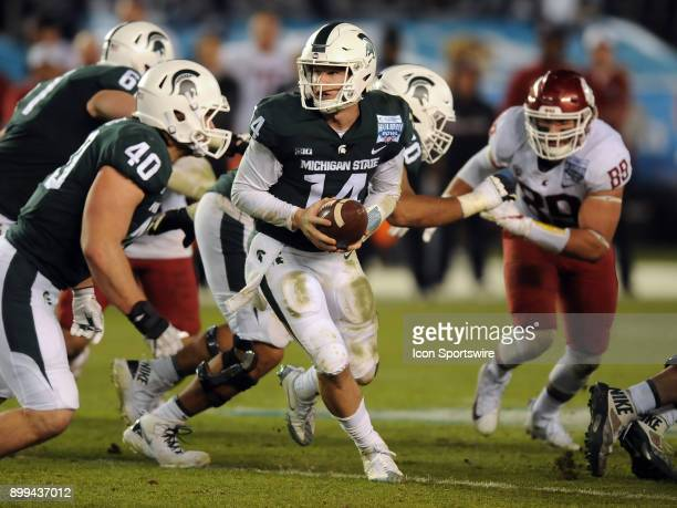 Michigan State Spartans quarterback Brian Lewerke in action in the second half of the Holiday Bowl played against the Washington State Cougars on...