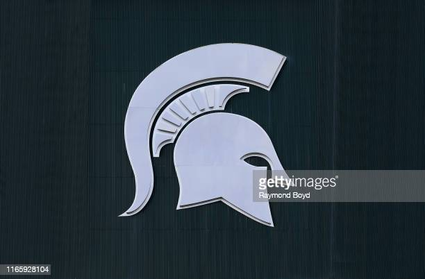 Michigan State University logo at Michigan State University in East Lansing Michigan on July 30 2019
