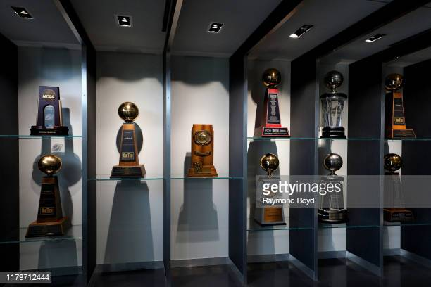Michigan State University trophy room in the Tom Izzo 'Basketball Hall Of History' inside Gilbert Pavilion home of the Michigan State Spartans...
