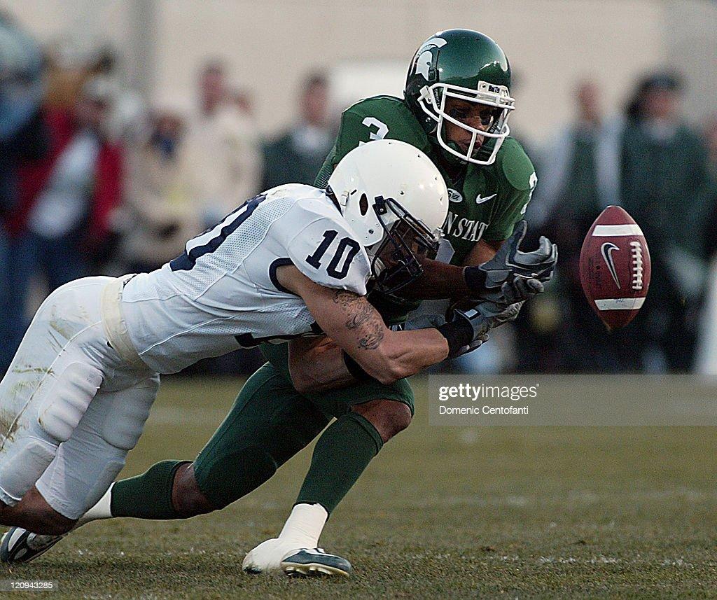 NCAA Football - Penn State vs Michigan State - November 19, 2005 : ニュース写真