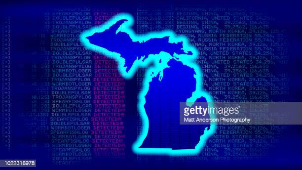 michigan - state with malicious code - electoral college stock pictures, royalty-free photos & images
